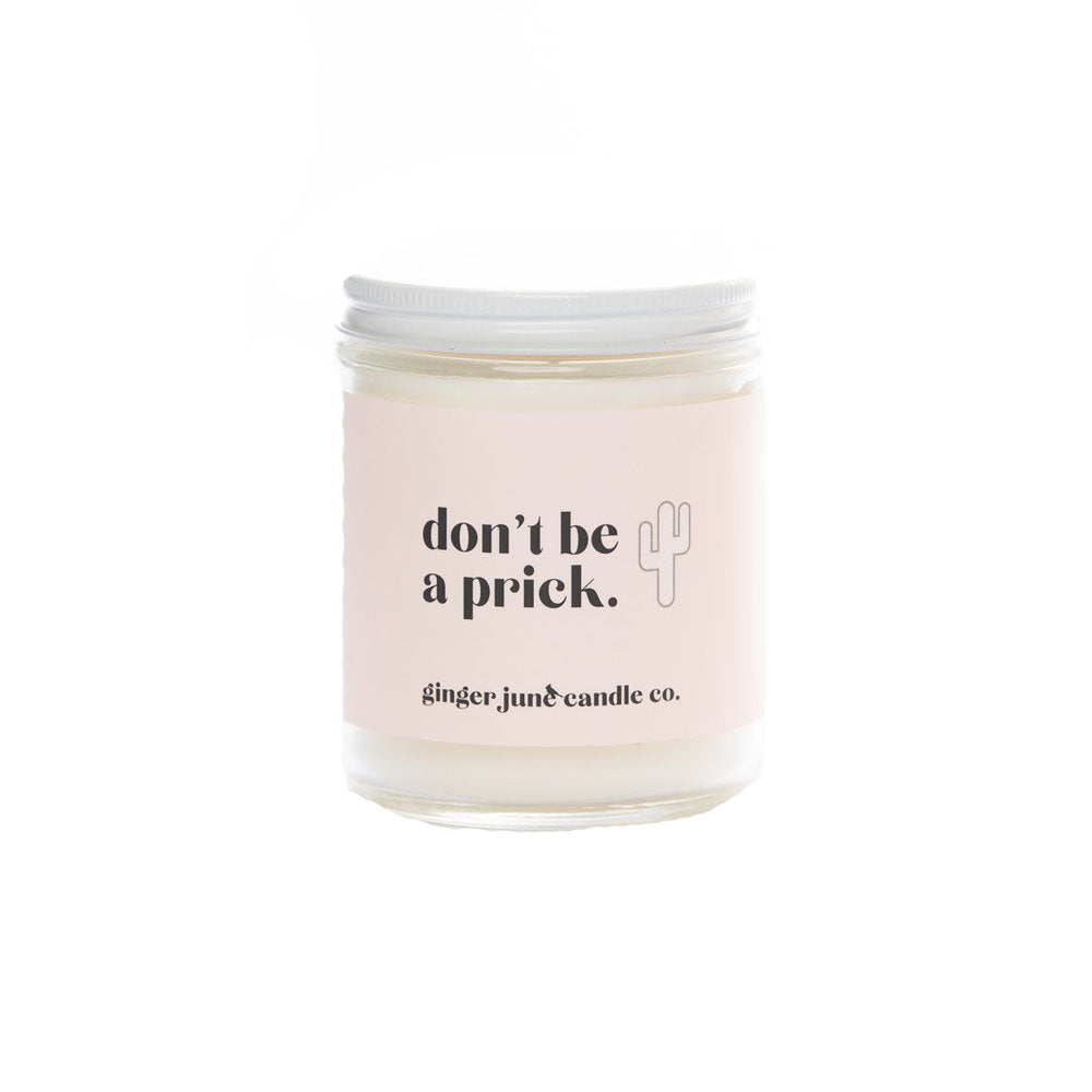Don't Be A Prick Soy Cactus Flower Candle