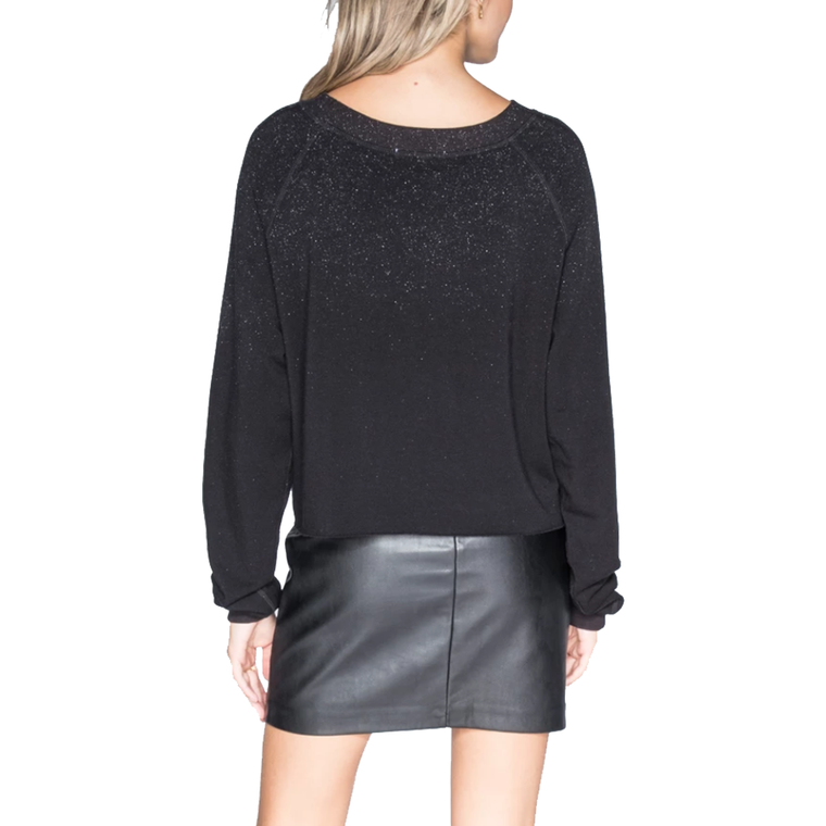 Glitz Boatneck Crop Sweatshirt