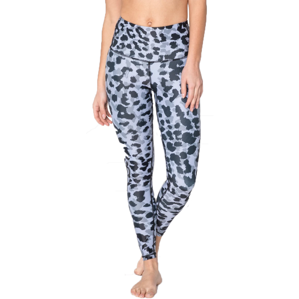Grey Leopard High Waisted Leggings