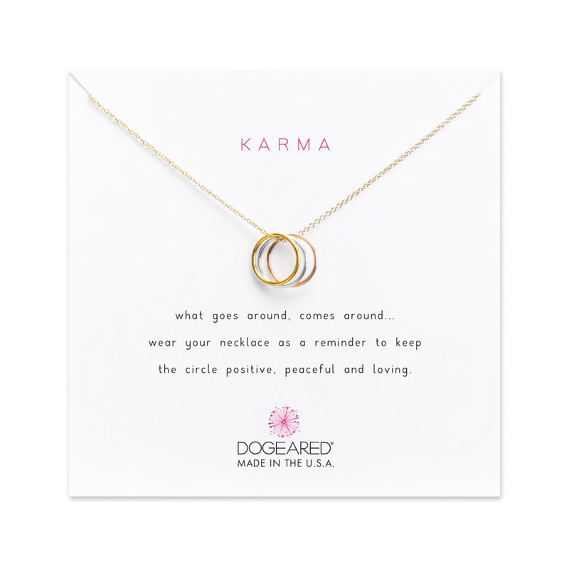 Karma Triple Ring Necklace