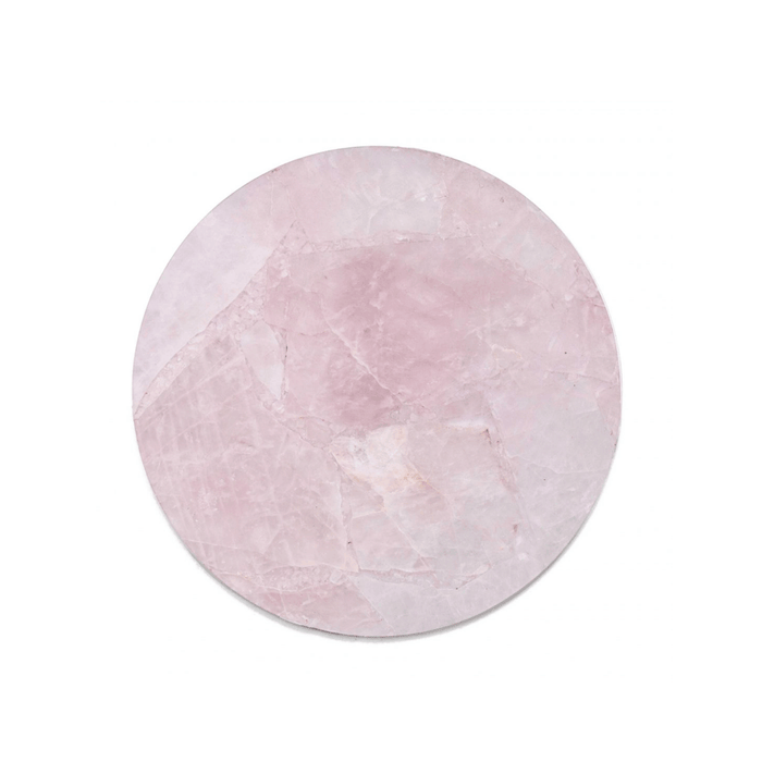 Crystal | Rose Quartz Circle Tray