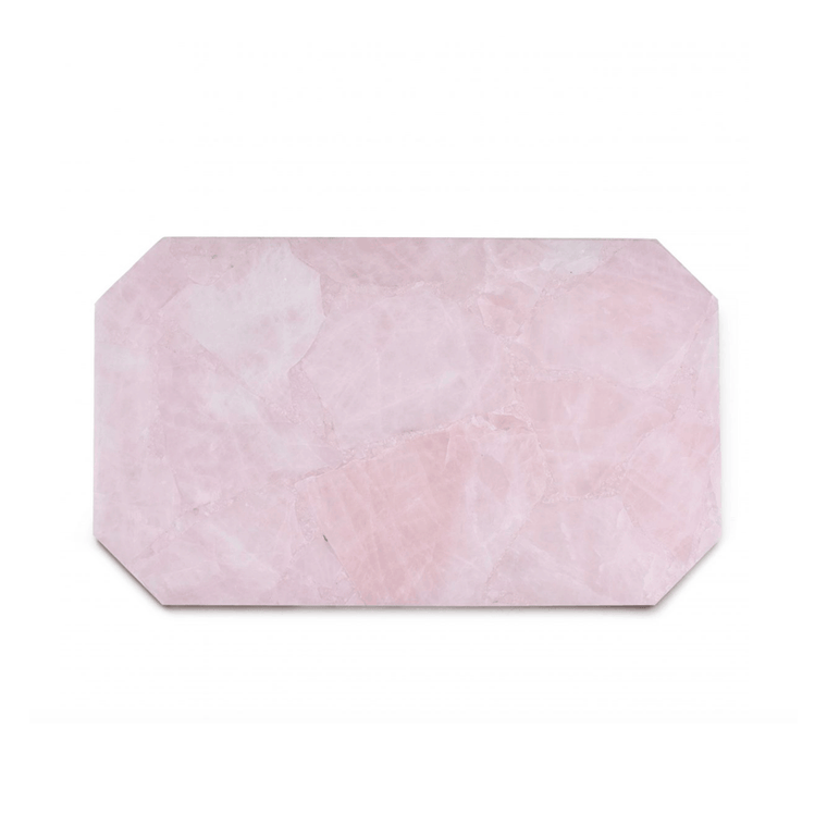 Crystal | Rose Quartz Rectangle Tray