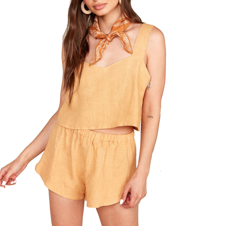 Ruby Ochre Linen Short