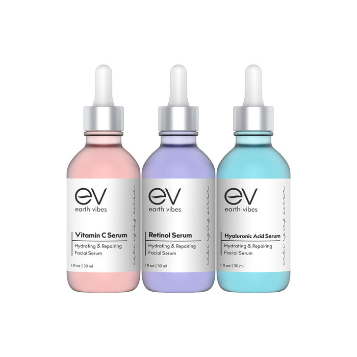 Hydrating + Anti-Aging Serum Trio Set
