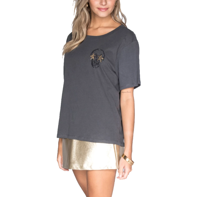 Studded Mini Skull Stars T-Shirt