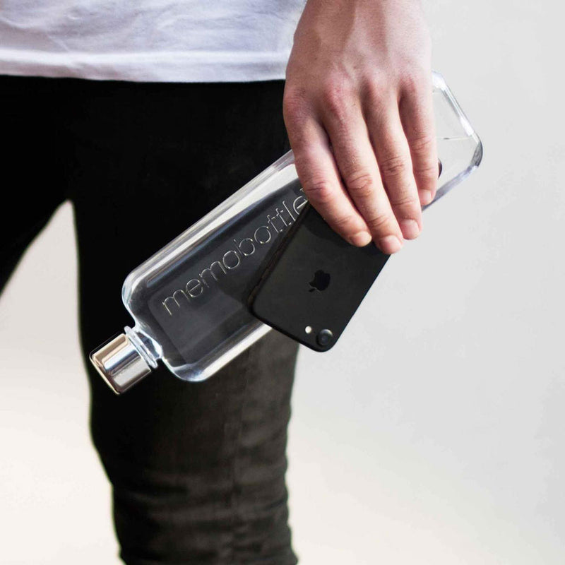 Slim Glass Water Memobottle
