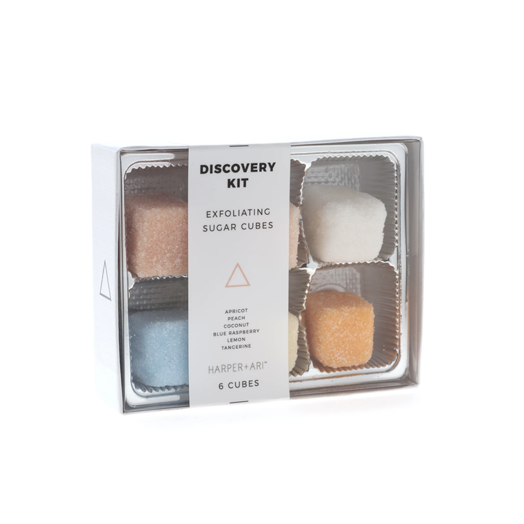 Exfoliating Sugar Cubes Discovery Kit Gift Box