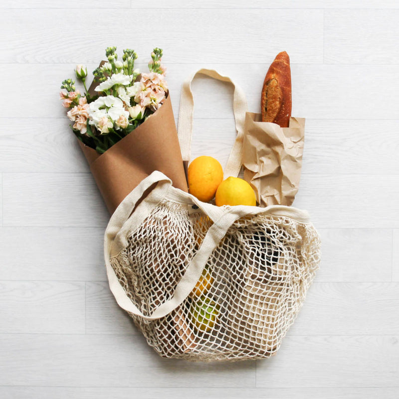 Organic Cotton Net Tote Bag