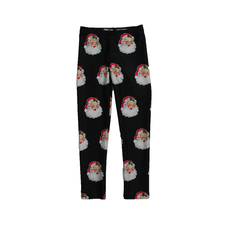 Vintage Santa Kids Leggings