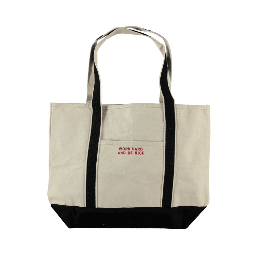 Work Hard And Be Nice Tote