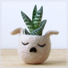 Succulent planter/dog head planter/cactus vase/puppy planter/Cute dog lover gift/gift for her