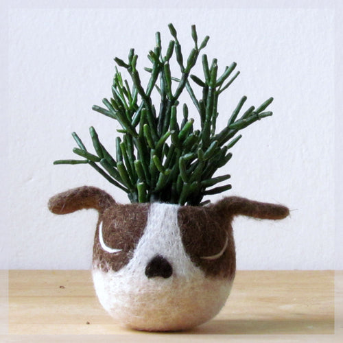 Boston terrier Dog lover gift, Cactus planter