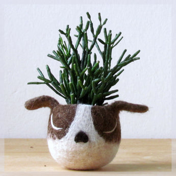 Dog lover gift/gift for her/succulent planter/Cactus planter gifts/dog head planter/dog vase/Boston terrier