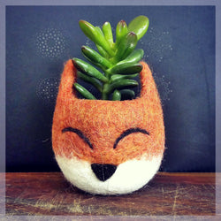 Succulent planter, Animal planter, Fox planter, cactus pot, kitsune vase, mini planter, Fox lover gift, gift for her