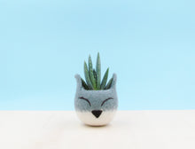Succulent planter/Fox head planter/cactus pot/kitsune vase/ warming gift/Fox lover gift/home decor/cabin decor/Set of two