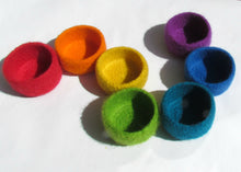 Rainbow bowls/marriage favor/gay pride/eco friendly decor/Jewelry bowl/set of seven