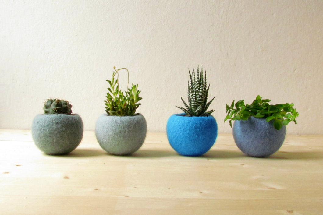 Planters set, plant pot set, Cactus vase,  indoor planter, house warming gift, Gift for mom, birthday gift, plant pot small, Set of 4