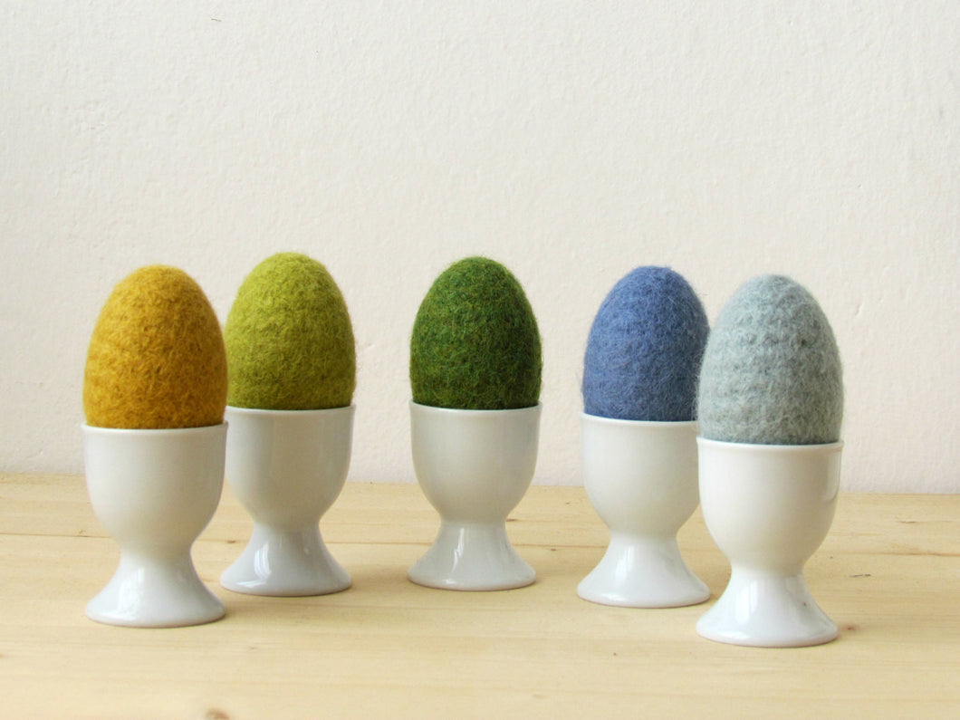 Free Shipping - Felt Egg /Easter home decor/pastel blue and green/waldorf toy/Montessori Toy/Set of  5 - bowl filler