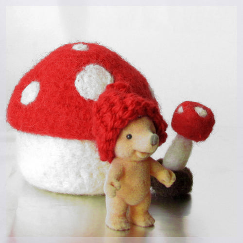 Felt toadstool/waldorf toy/Eco friendly mushroom/gnome house/fairy home/Felted bowl