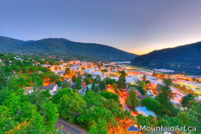 Nelson BC summer sunset from Gyro Park HDR photography