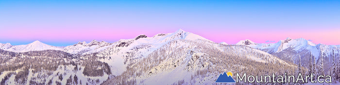 whitewater ski area ymir bowl sunset alpenglow nelson BC