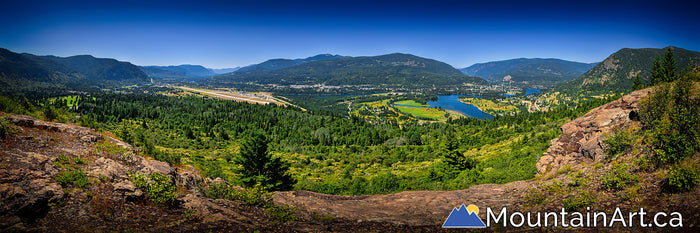 castlegar bc dove hill panorama photo spring