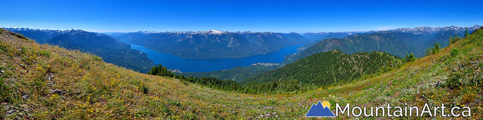 idaho peak panorama wildflowers vista slocan lake valhalla park