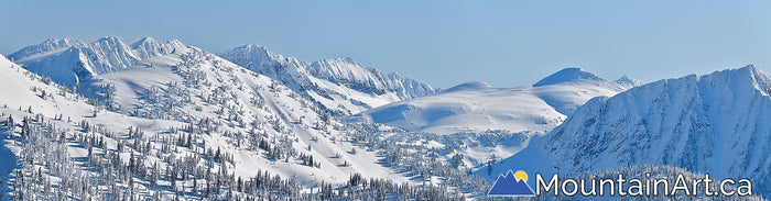 kokanee glacier park winter panorama with glory basin