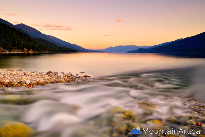 powder creek garland bay sunset kootenay lake east shore kaslo bc