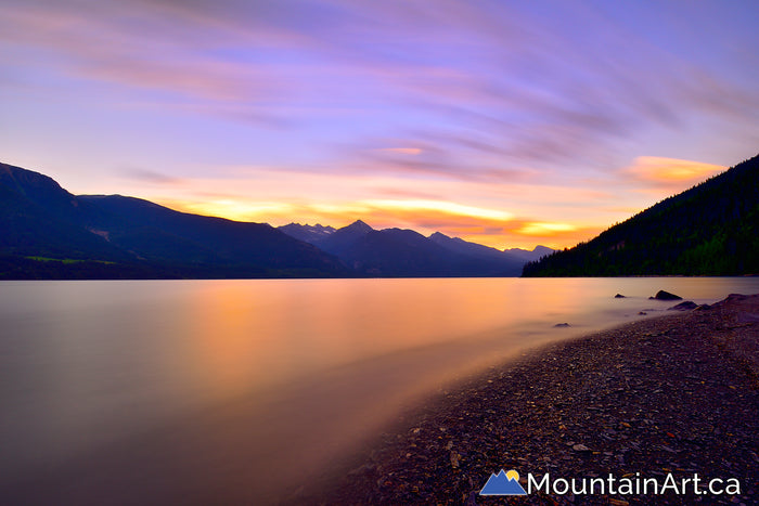 kootenay lake sunset lardeau lost ledge bc