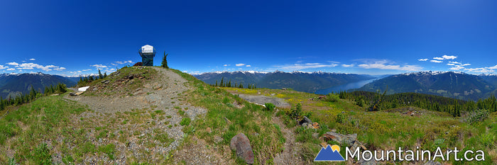 mt buchanan panorama above kootenay lake and purcell mountains kaslo bc