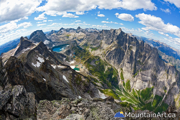 Mt Dag Summit and Mulvey basin in Valhalla Park, BC.