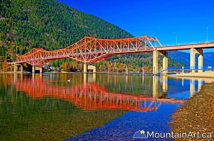 nelson bc orange bridge lakeside park on kootenay lake bc