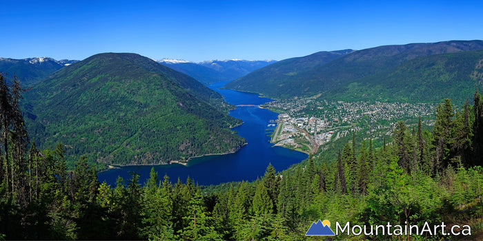 nelson bc spring panorama giveout bedframe view kootenay lake