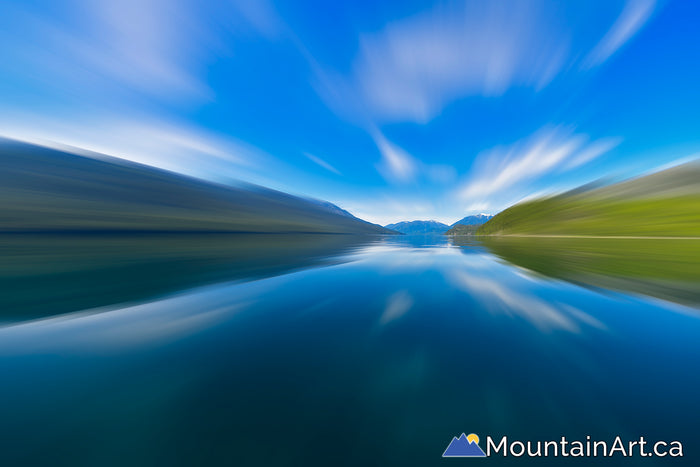 slocan lake motion blur near siverton bc