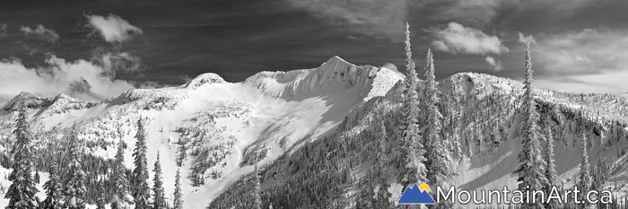 Whitewater ski resort backcountry touring ymir bowl panorama Nelson BC