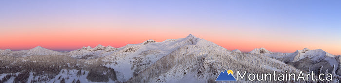 whitewater ski backcountry alpenglow ymir bowl peak panorama