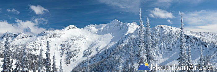 whitewater backcountry panorama ymir peak bowl winter nelson bc