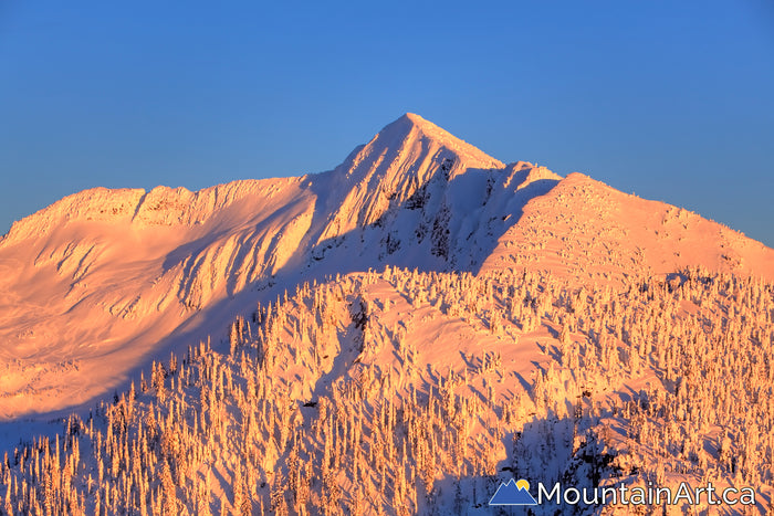 alpenglow sunset ymir peak whitewater ski bc
