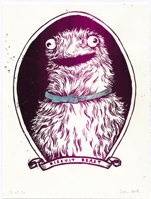 Leah Yael Levy: Biscuit Beast(screenprint)