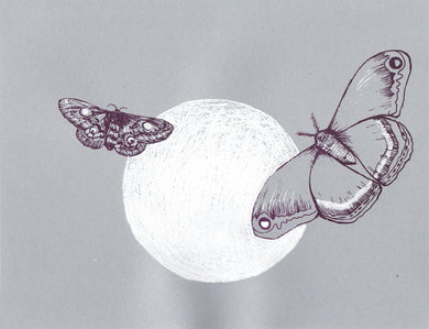 Leah Yael Levy: Moon Moths (gray)