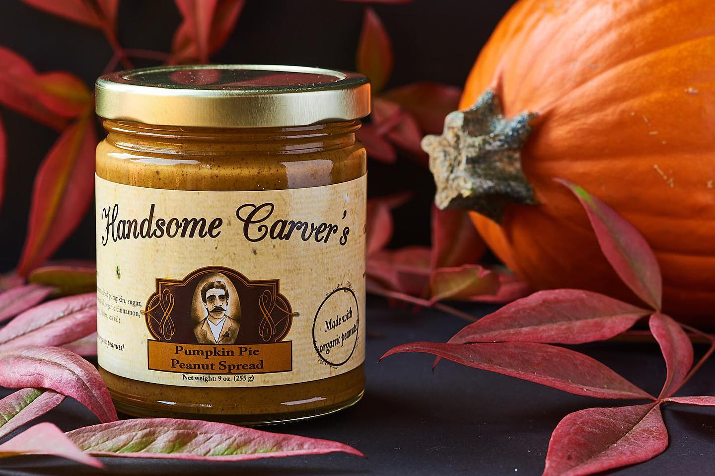 Handsome Carver's Nut Butters: Pumpkin Pie Peanut Spread