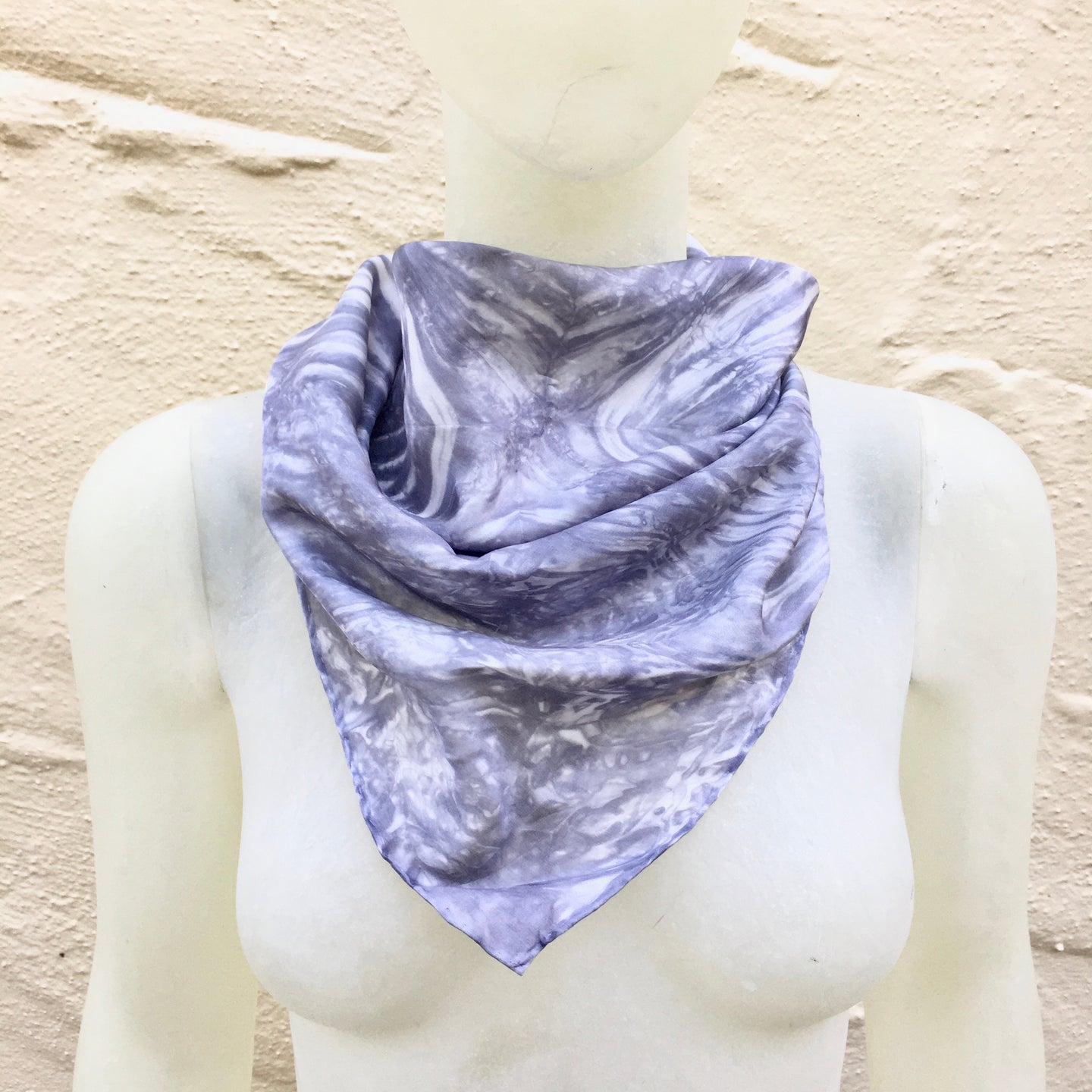 Scarf Spree: (S) Platinum & White 21