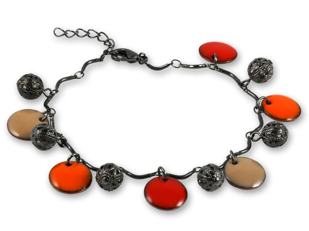 Michele Dodge:(S)Vintage Look Bracelet  - Orange