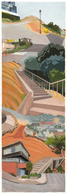 Secret Stairways: Meredith Moles: Bernal Heights (print)