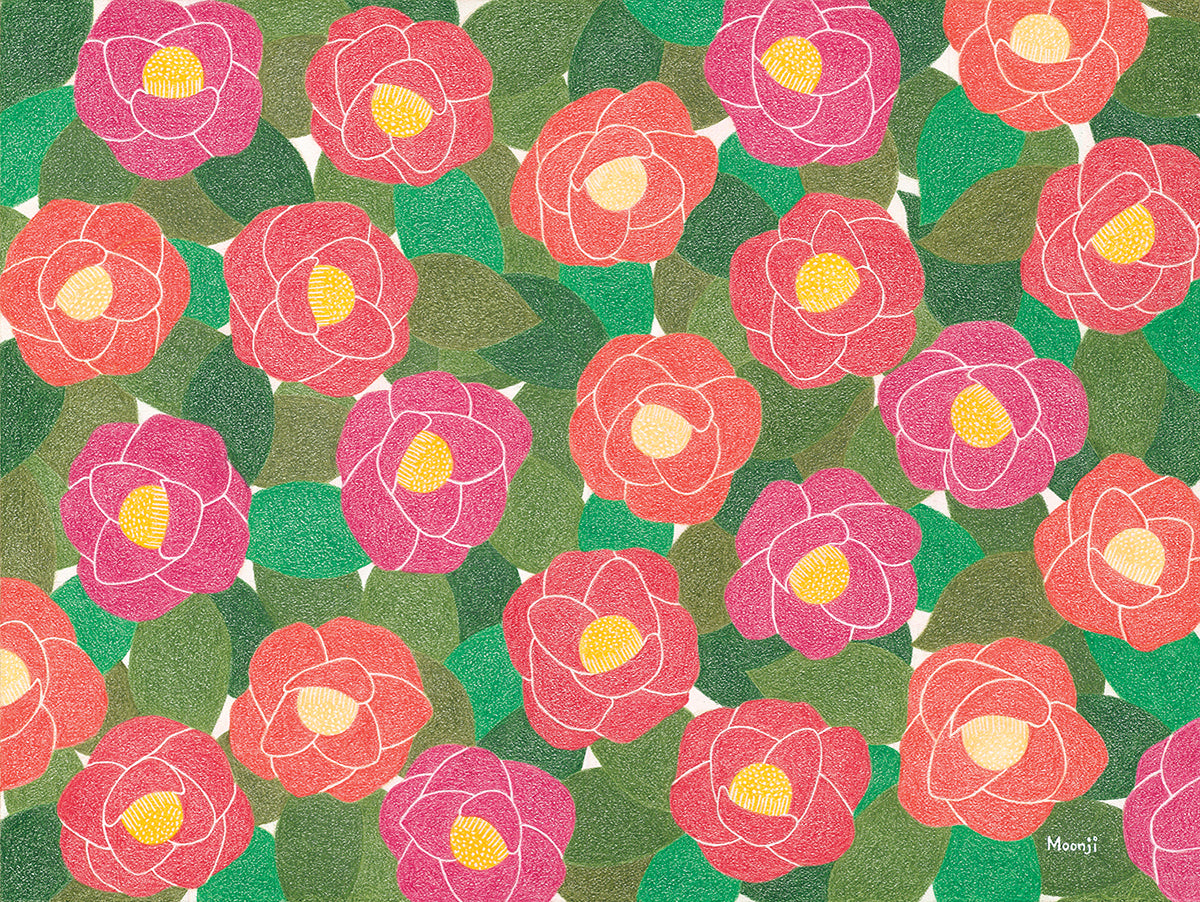 Moonji Pickering: Print - Camellia
