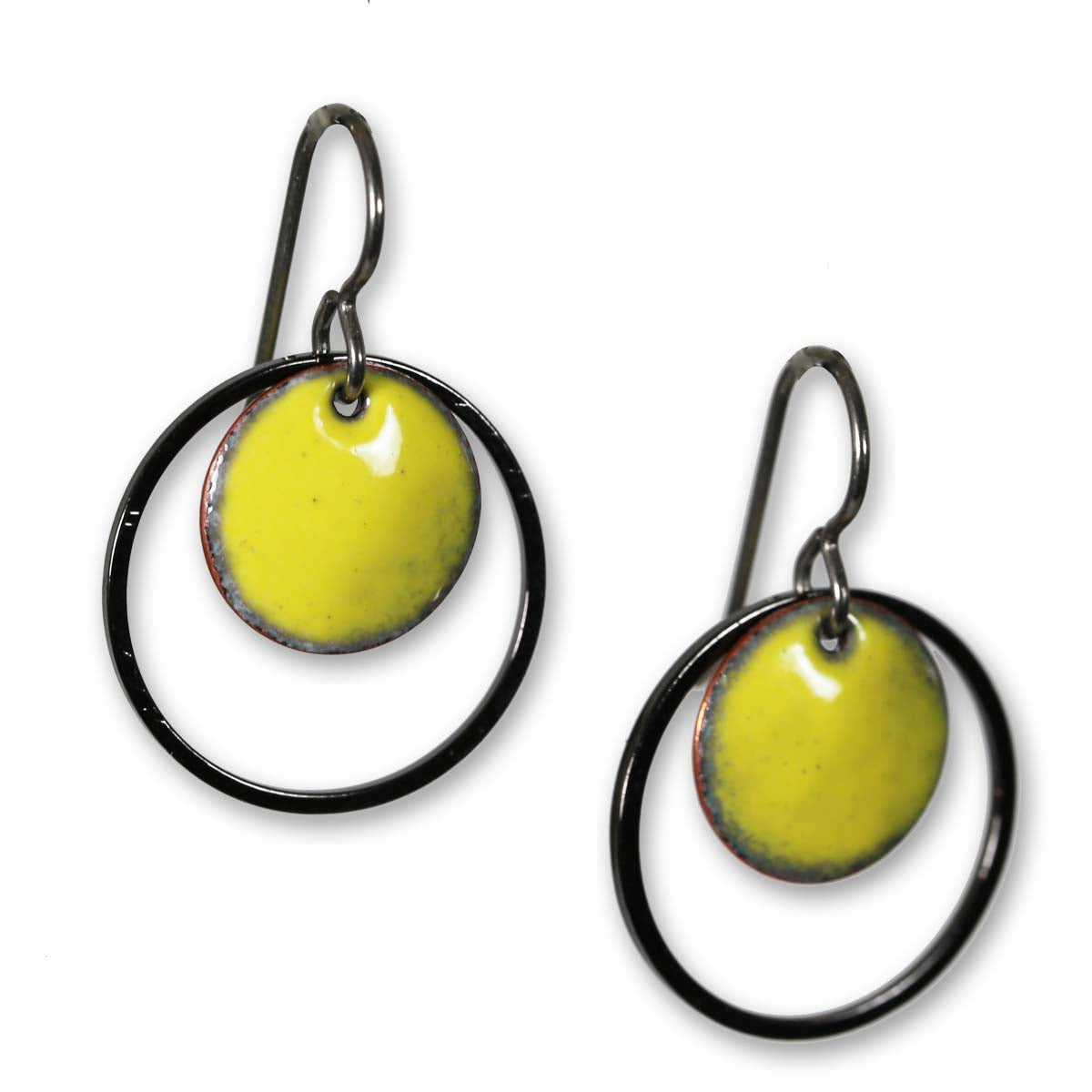 Michele Dodge:(S) Encircled Earrings - Yellow