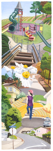 Secret Stairways: Meredith Moles: El Cerrito Stairways (print)