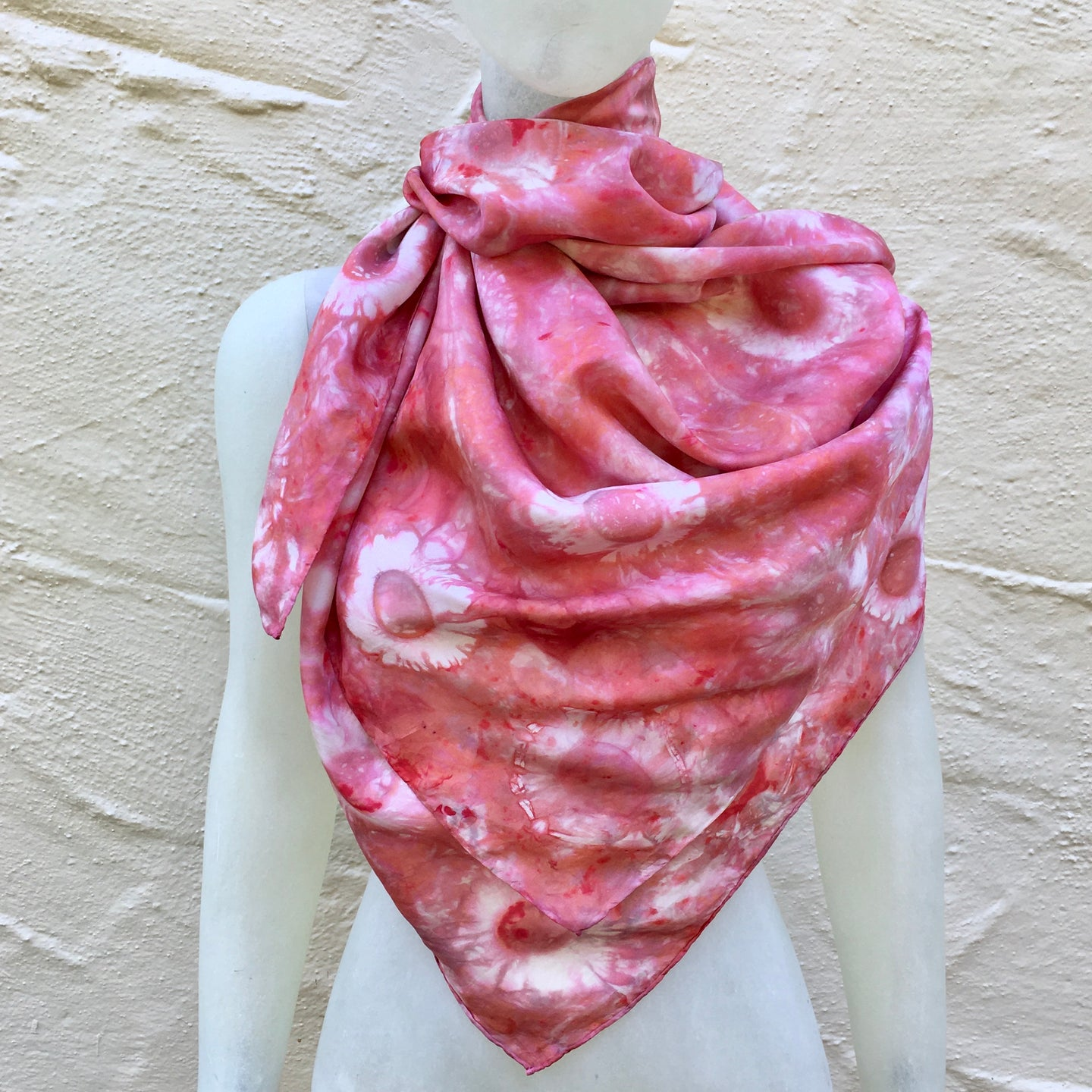 Scarf Spree: (S) Red Flower 44