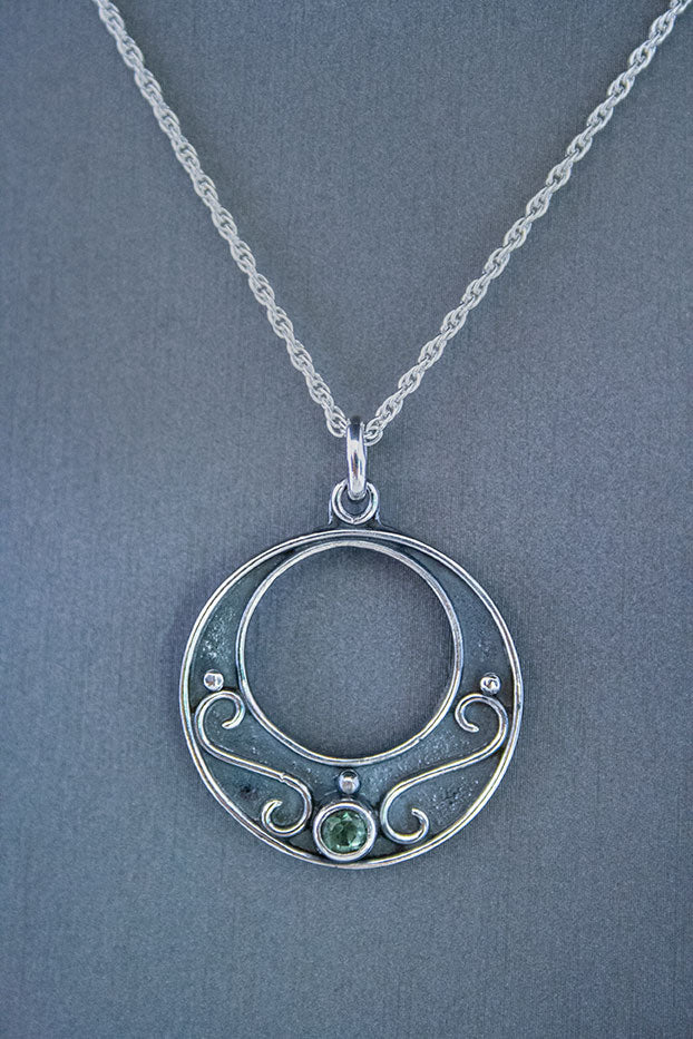 Forge & Fountain: Green Tourmaline Necklace